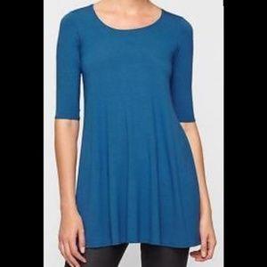 Eileen Fisher XL Blue High Low Blue Tunic Dress